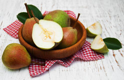 Bowl with pears Stock Image