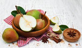 Bowl with pears Royalty Free Stock Photography