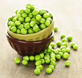 Bowl of peas Stock Photography