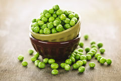 Bowl of peas Royalty Free Stock Images