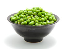 Bowl with peas Royalty Free Stock Images