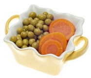 Bowl of Peas and Carrots Royalty Free Stock Images