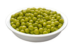 Bowl of Peas (with clipping path) Royalty Free Stock Photography