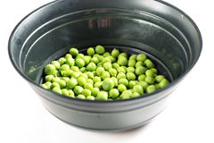 Bowl of peas up close Royalty Free Stock Photography