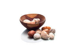 Bowl of Pebbles Stock Photography