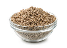 Bowl of pelleted compound feed Royalty Free Stock Image
