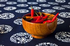 A bowl of peppers Royalty Free Stock Images