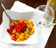 Bowl of peppers Stock Image