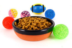 Bowl of Pet Food Royalty Free Stock Photos