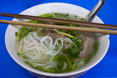 Bowl of Pho Bo Stock Photos