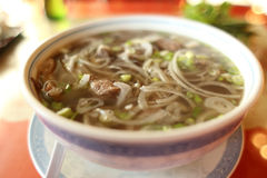 Bowl of pho Stock Image