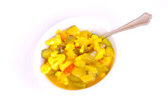 Bowl of Piccalilli Stock Photography