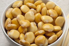 Bowl with pickled lupin beans Royalty Free Stock Photo