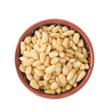 Bowl of Pine Nuts Isolated Royalty Free Stock Photos