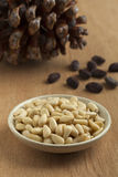 Bowl with pine nuts Royalty Free Stock Images