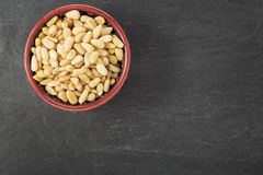 Bowl of Pine Nuts Royalty Free Stock Images