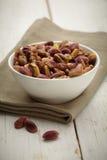 Bowl of pistachio. On napkin Royalty Free Stock Photography