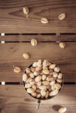 Bowl of pistachio nuts Royalty Free Stock Images