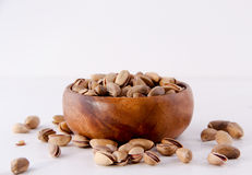 Bowl of pistachio nuts Stock Image