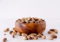 Bowl of pistachio nuts. Pistachio nuts Concept and Decoration stock image