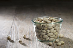 Bowl of pistachio nuts. Royalty Free Stock Photography