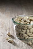 Bowl of pistachio nuts. Royalty Free Stock Image