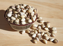 Bowl of pistachio nuts Royalty Free Stock Photo