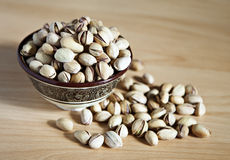Bowl of pistachio nuts Royalty Free Stock Image