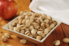 Bowl of pistachios Stock Image