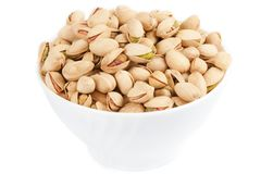 Bowl with pistachios Stock Image
