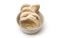 Bowl of pita bread Royalty Free Stock Photo