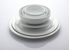 Bowl and plate Stock Image