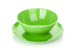 Bowl and plate Royalty Free Stock Image