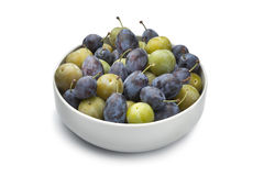 Bowl with plums Royalty Free Stock Images