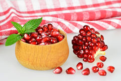 Bowl of pomegranate seeds Royalty Free Stock Photo