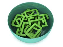 A Bowl Pool of binary numbers Stock Images