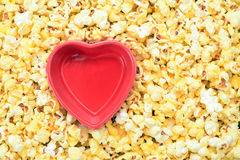 Bowl and pop corn Stock Image