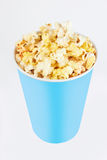 Bowl with popcorn Stock Photo