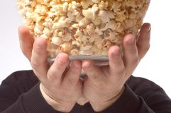 Bowl of popcorn Stock Image