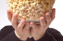 Bowl of popcorn Stock Image