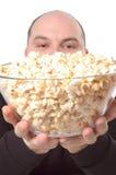 Bowl of popcorn Stock Photography