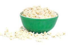 Bowl of popcorn Stock Images