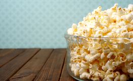 Bowl of popcorn Stock Photo