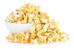 Bowl with popcorn Stock Photos