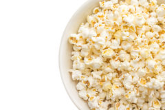 Bowl of popcorn isolated on white background Royalty Free Stock Photos