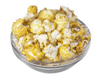 Bowl of popcorn isolated Stock Images