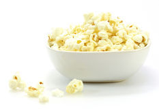 Bowl of popcorn Stock Photo