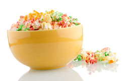 Bowl of popcorn Stock Photos