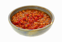 Bowl Pork and Beans Stock Image