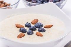 Bowl of porridge with berries Royalty Free Stock Images